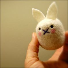 adorable! cashmere bunny egg wooly