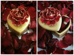 Romantik hediyelerimizin sunumu çok önemlidir.. by Özlem T.❤  #hediye #romantik # gül #rose #gift #kutu #box #hediyelik #gold #golden #handpaint  #ozlemt #özlemt #sanatevimbalcova