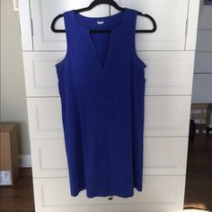 J. Crew Dress Cotton royal blue dress. Previously worn but in good condition! Great summer dress! J. Crew Dresses