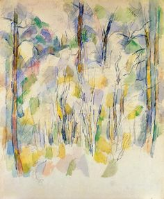 In the Woods , by Paul Cezanne