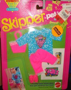1991 Skipper - Pet Pals Fashions # Barbie 90s, Barbie Skipper, Barbie Stuff, Barbie And Ken, Barbie Dress, Barbie Clothes, Teen Fun, 90s Toys, Priscilla Presley