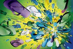 Unidad: los diferentes elementos, en este caso las chanclas, son percibidos como una imagen global.
