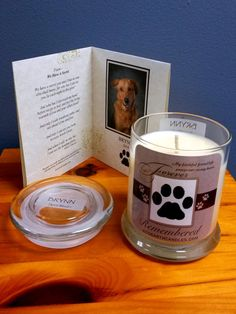 12 oz. Forever Remembered Personalized  Pet by EcoearthCandleShop, $24.99