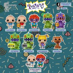 Funko Pop List, Funko Pop Display, Funko Toys, Pop Collection, Funko Pop Figures, Rugrats, Funko Pop Vinyl, Barbie, Cute Animals