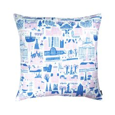 Designer: Marika Maijala Material: linen & cotton Size: x Perfect for x inner cushions - inner cushion is not included in the price. Silkscreen printed on our signature linen&cotton mix fabric. Pink Cushion Covers, Pink Cushions, Silk Screen Printing, Pattern Design, Throw Pillows, Fabric, Prints, Living Room, Screen Printing Press