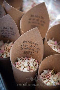 Personalised confetti cone from Lulworth Estate wedding in Dorset Wedding Car, Wedding Venues, Wedding Photos, White Wedding Bouquets, Wedding Flowers, Emerald Green Bridesmaid Dresses, Confetti Cones, Wedding Breakfast, Wedding Confetti