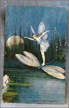 "Apr 3, 1937. The left side is marked ""Elves And Fairies, Series No. 74 // From ""Blossom"" A Fairy Story by Ida Rentoul Outhwaite"