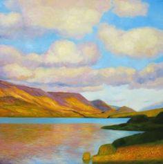 "Saatchi Art Artist Ieva Baklane; Painting, """"Lake"""" #art"