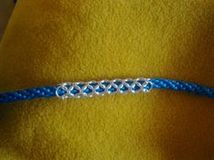 Kumihimo bracelet with silver box