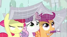 it's raining it's pouring, and rainbow dash is mad at us. so what do we do? we just let it rain on us instead of just walking out from the one cloud that RD is hopping on!