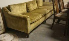 Mid century velvet sofa Sofa Makeover, Mid Century Sofa, Velvet Sofa, Home Furnishings, Couch, Furniture, Home Decor, Velvet Couch, Settee