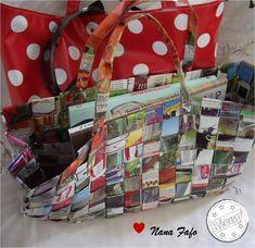 Que faire avec nos vieux magazines, prospectus, et journaux ? Des sacs tressés en papier recyclé. On plie, on entrelace, on...