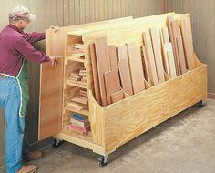 20 Scrap Wooden Storage Holders You Can DIY. >> Learn even more by going to the picture link Source by handymanlists 20 Scrap Wooden Storage Holders You Can DIY. >> Learn even more by going to the picture link Source by handymanlists Lumber Storage Rack, Plywood Storage, Lumber Rack, Storage Cart, Tool Storage, 1 Plywood, Rolling Storage, Plywood Furniture, Diy Storage