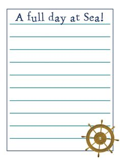Journal Card - general cruise - A full day at sea - time to explore the ship - lines - Photo: A little journal card to brighten up your holid. Cruise Scrapbook Pages, Paper Bag Scrapbook, Disney Scrapbook, Scrapbook Layouts, Journal Pages Printable, Travel Journal Pages, Disney Fantasy Cruise, Disney Cruise Line, Journal Cards