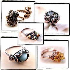Learn to make these!  Ring Lovers Wire Wrap Jewelry Lessons 5 TUTORIAL by FashionWire, $19.99