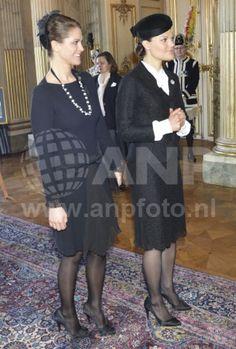 HRH Princess Madeleine and HRH Crown Princess Victoria of Sweden