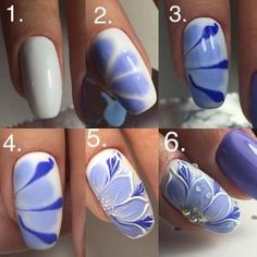Want some ideas for wedding nail polish designs? This article is a collection of our favorite nail polish designs for your special day. Manicure Nail Designs, Nail Manicure, Diy Nails, Cute Nails, Smart Nails, Pedicure, Flower Nail Designs, Cute Nail Designs, Floral Nail Art