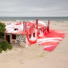 a berlin artist gives rockaways buildings a colorful farewell