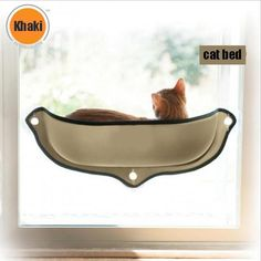 EZ Mount Window Bed Kitty Sill Instantly turn any window into a kitty entertainment center! This ingenious EZ Mount Window Bed Kitty Sill attaches to virtually Crazy Cat Lady, Crazy Cats, Cool Cats, Cat Window Perch, Window Sill, Window Hanging, Gatos Cool, Gato Animal, Cat Hammock