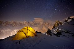 Camping on Mont Blanc, French Alps