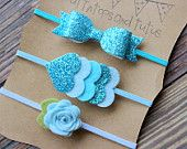 Glitter and felt headband baby toddler girs by muffintopsandtutus