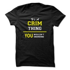 Its A CRIM thing, ᗖ you wouldnt understand !!CRIM, are you tired of having to explain yourself? With this T-Shirt, you no longer have to. There are things that only CRIM can understand. Grab yours TODAY! If its not for you, you can search your name or your friends name.Its A CRIM thing, you wouldnt understand !!