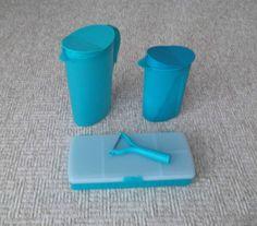Tupperware Set Saftkanne 2,1 l + 1,0 l + Mehrzweckbehälter + Unischäler | eBay
