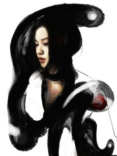 ''Causation'' by Jungshan/ Digital Art / Drawings & Paintings / People / Portraits©2008-2014 Jungshan I would like to use the Chinese ink to make the graffiti paint.  lets see what will be going on.