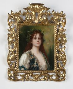 1005: A KPM porcelain plaque 'Clementine' after Kiesel : Lot 1005