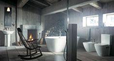 Top 20 Modern Rustic Bathroom Design Ideas As Inspiration to Renovate Your Bathroom Rustic Bathroom Designs, Rustic Bathroom Decor, Rustic Bathrooms, Modern Bathroom Design, Bathroom Interior Design, Rustic Decor, Rustic Design, Country Decor, Cottage Bathrooms
