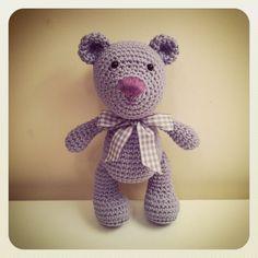 Lavender Teddy Bear amigurumi