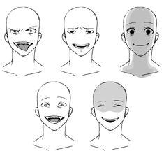 ゲス顔の描き方_合成 (Kat's Note: These are expressions an oc of mine would) make Drawing Face Expressions, Anime Faces Expressions, Anime Poses Reference, Figure Drawing Reference, Poses Manga, Manga Drawing Tutorials, Body Drawing Tutorial, Anime Drawings Sketches, Pencil Drawings