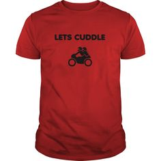 Lets Cuddle Couple Cafe Racer Biker Motorcycle T-Shirt