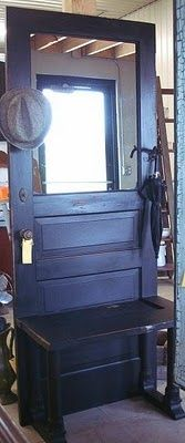 for repurposing old doors Matt and I found an entryway coat hook/bench ...