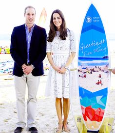4/18/14 Wiliam & Kate at Manly Beach in Sydney, Australia.