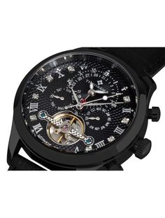 Today's Man, Super Deal, Damascus, Automatic Watch, Watches For Men, Black Leather, Diamond, Fedex Express, Awesome Watches