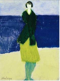 figure in green by Milton Avery