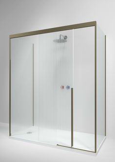 Rectangular glass shower cabin with sliding door SLIDING by Boffi design Piero Lissoni