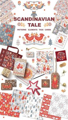Scandinavian Tale by Irina Skaska is a magic set of vector illustrations, patterns, items for decoration in a Scandinavian style. This Scandinavian clipart is ideal for children's room decor, creating posters, postcards, tags, backgrounds, wallpapers, fabrics, notebooks covers, decorations for the holiday.  #ad