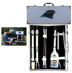 8 pc Stainless Steel BBQ Set w/Metal Case