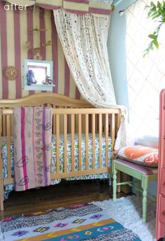 bohemian nursery-before and after