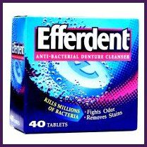 Efferdent tablets - not just for cleaning your dentures anymore!  From cleaning pots and pans, to unclogging drains and whitening fingernails!  I will need to try a few of these suggestions!