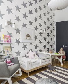 Look at those walls... fun kids room idea (not that i want to do the work required to make this happen)