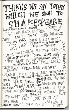 Things We Say Today And Owe To Shakespeare : NPR