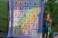 Beautiful quilt...made with Machine Applique Embroidery designs.