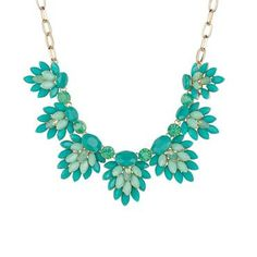 Turquoise Cluster Statement Necklace