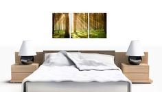 Set of 3 Green Canvas Art Wall Pictures Trees Landscape Print 3042: Amazon.co.uk: Kitchen & Home