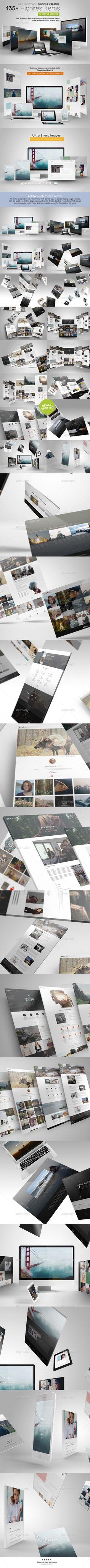 Web Showcase/ Mock-up Creator - Multiple Displays