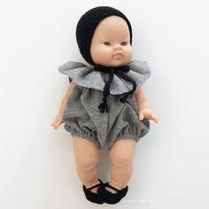 f1aeeda7e211b Commandez en ligne la Poupée Poupon Petite fille asiatique PAOLA REINA  barboteuse et béguin l little