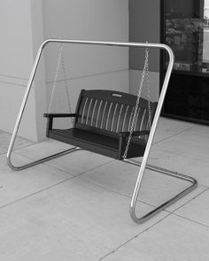 Porch Swing Frame, Patio Swing, Bench Swing, Porch Swings For Sale, Metal Furniture, Outdoor Furniture, Garden Furniture, Furniture Ideas, Plastic Lumber